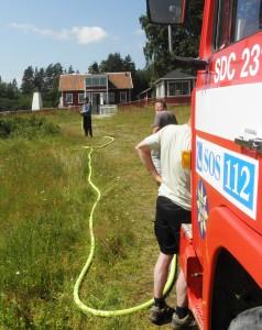 Övning med Brandförsvaret